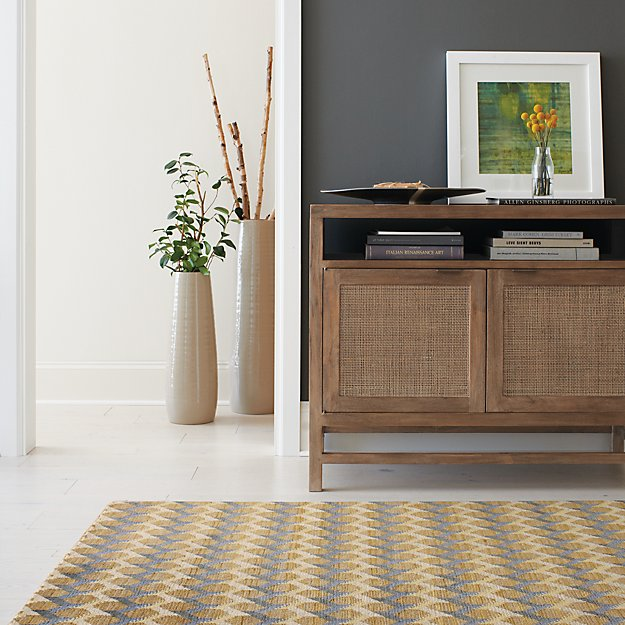 Twine Striped Hand Knotted Wool Rug