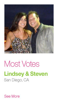 Most Votes: Lindsey & Steven, San Diego CA