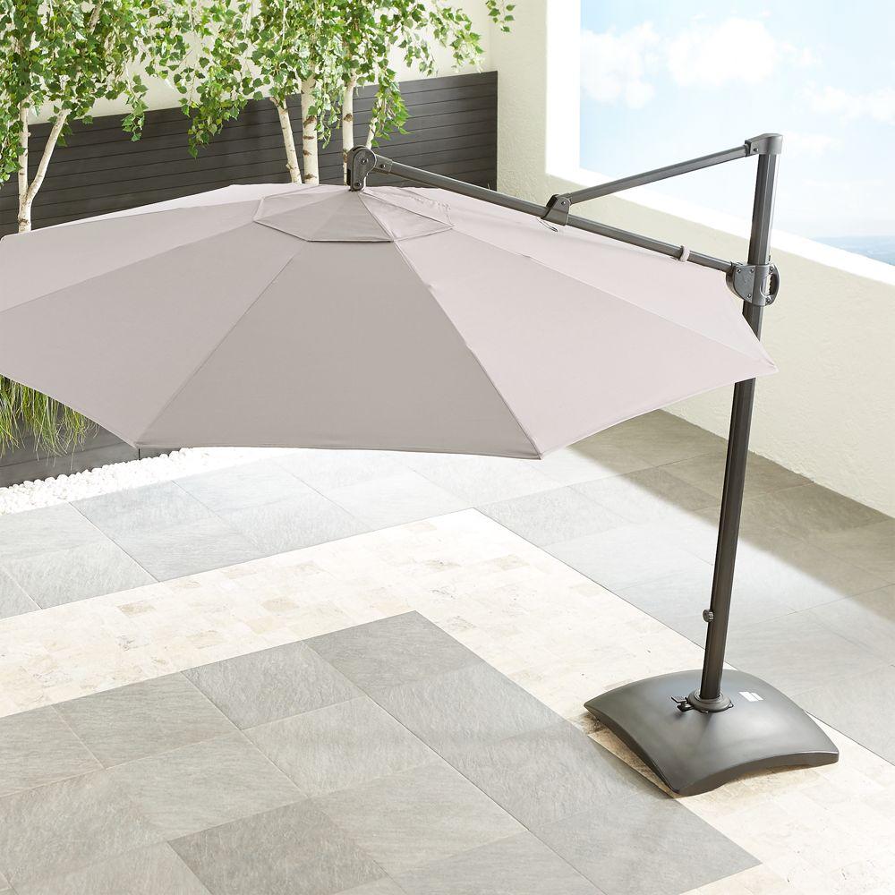 10' Sunbrella ® Silver Round Cantilever Umbrella