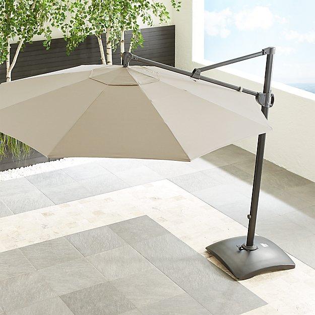10' Sunbrella ® Stone Round Cantilever Umbrella - Image 1 of 7