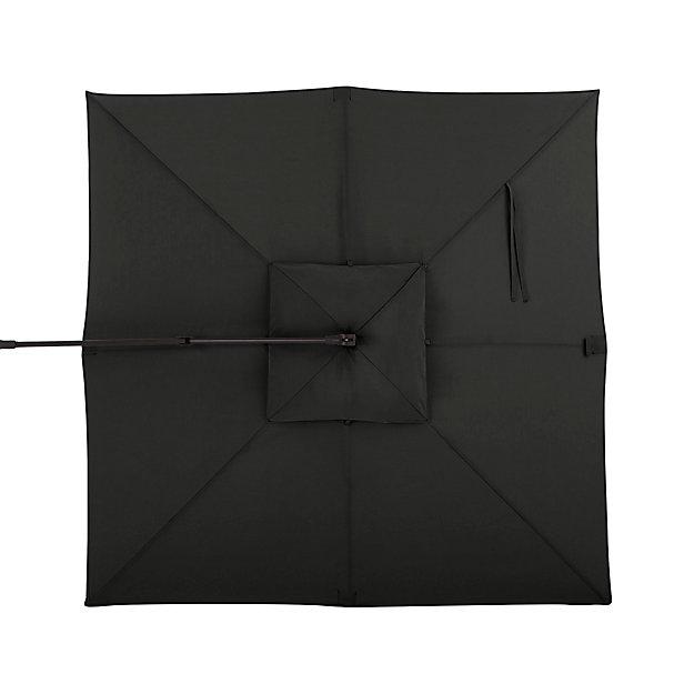 10' Sunbrella ® Charcoal Square Cantilever Umbrella Canopy - Image 1 of 1