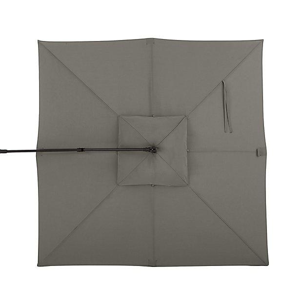 10' Graphite Sunbrella ® Square Cantilever Umbrella Canopy - Image 1 of 1
