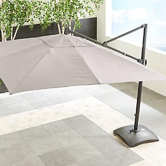10' Sunbrella ® Silver Square Cantilever Umbrella