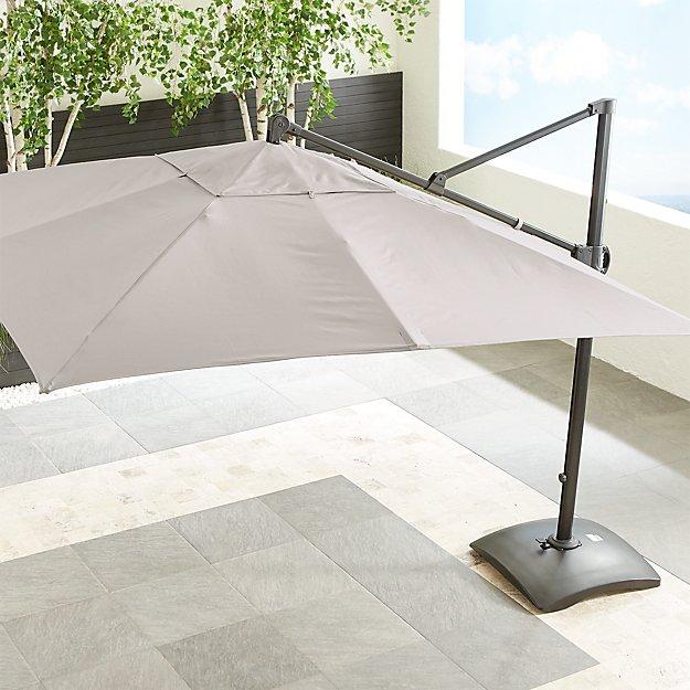 10' Sunbrella ® Silver Square Cantilever Umbrella - Image 1 of 6