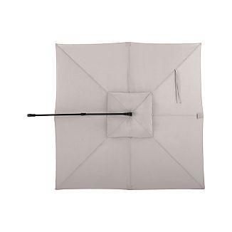 10' Silver Sunbrella ® Square Cantilever Umbrella Canopy