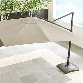 10' Sunbrella ® Stone Square Cantilever Umbrella