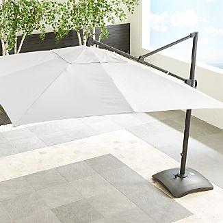 10' Sunbrella ® White Sand Square Cantilever Umbrella