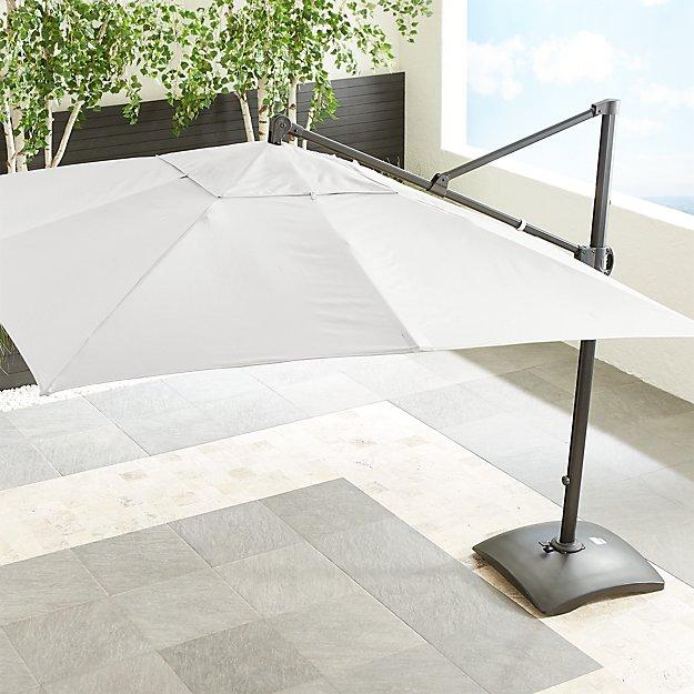 10' Sunbrella ® White Sand Square Cantilever Umbrella - Image 1 of 5