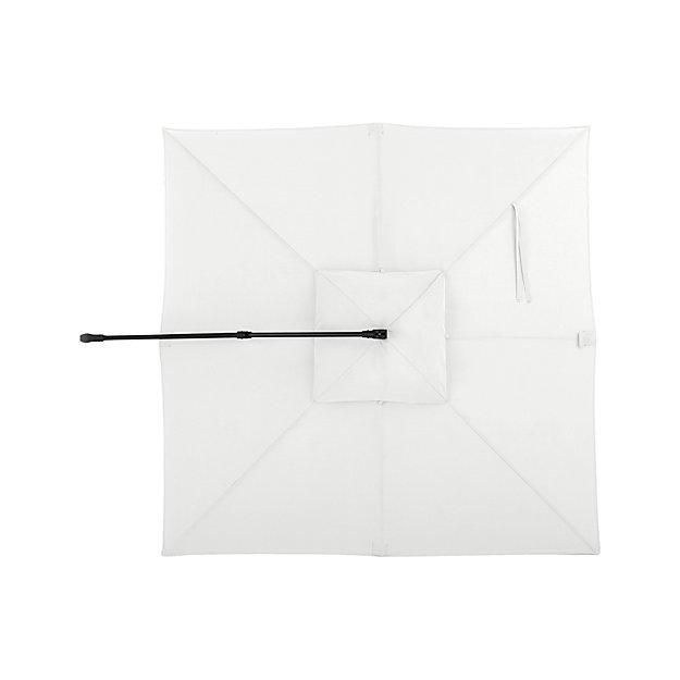10' White Sand Sunbrella ® Square Cantilever Umbrella Canopy