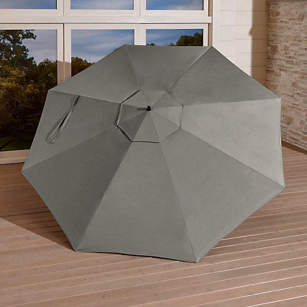 10' Sunbrella ® Graphite Round Cantilever Umbrella Canopy - Image 1 of 3