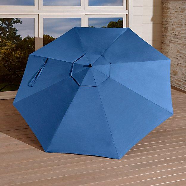 10' Round Mediterranean Blue Cantilever Umbrella Canopy
