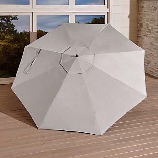 10' Silver Sunbrella ® Round Cantilever Umbrella Canopy