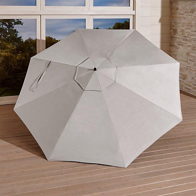 10' Silver Sunbrella ® Round Cantilever Umbrella Canopy - Image 1 of 3