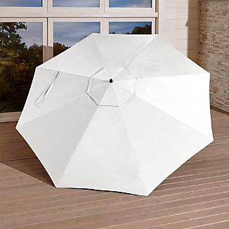 10' White Sand Sunbrella ® Round Cantilever Umbrella Canopy