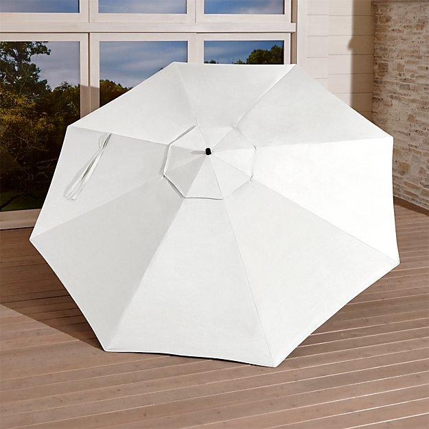 10' White Sand Sunbrella ® Round Cantilever Umbrella Canopy - Image 1 of 3