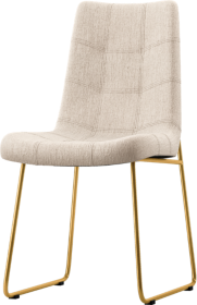 Naomi Dempsey Flax Tufted Dining Chair