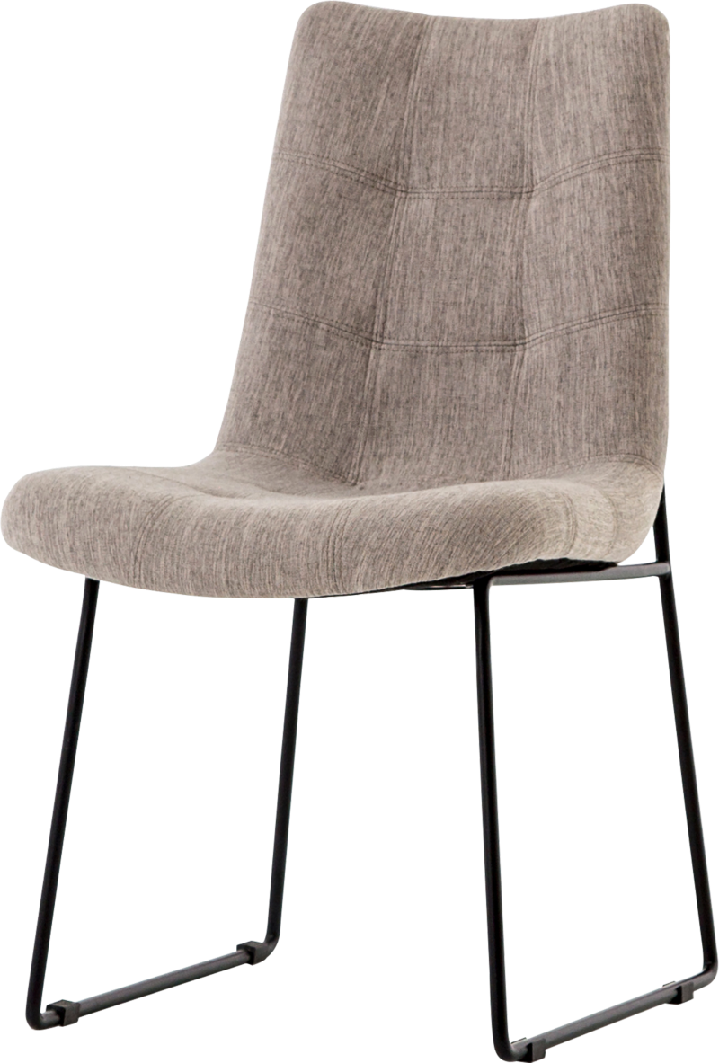 Naomi Dempsey Flannel Tufted Dining Chair