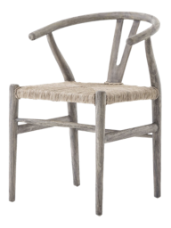 Crescent Weathered Grey Dining Chair