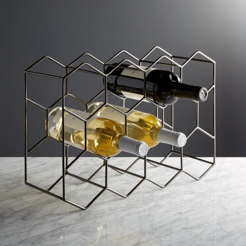 11 Bottle Graphite Wine Rack Reviews Crate And Barrel