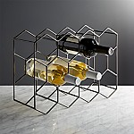 11-Bottle Graphite Wine Rack