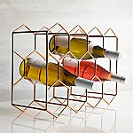 11-Bottle Wine Rack Copper