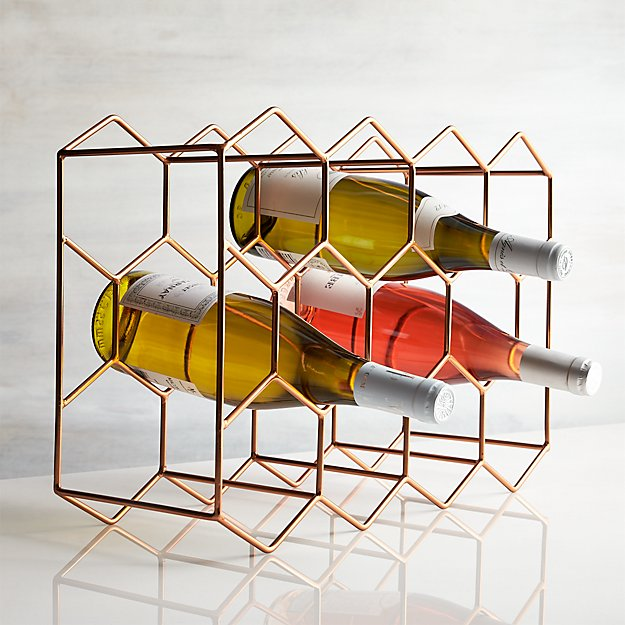 11-Bottle Wine Rack Copper - Image 1 of 5