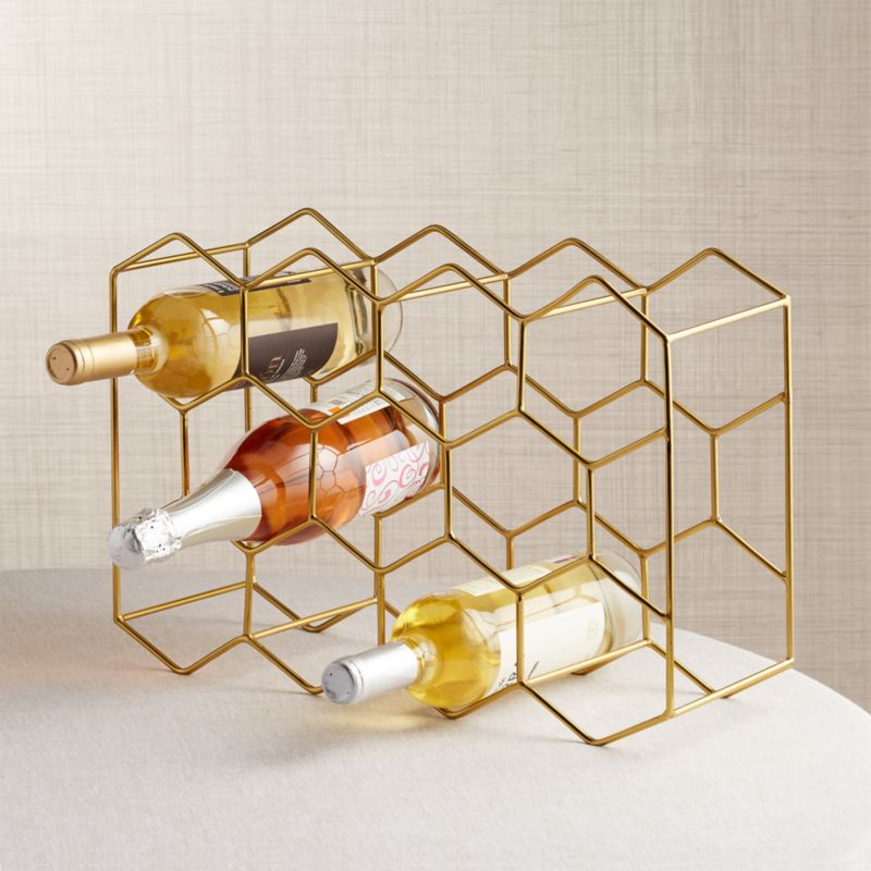 11 Bottle Gold Wine Rack Reviews Crate And Barrel