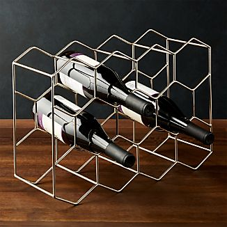 11 Bottle Wine Rack Silver