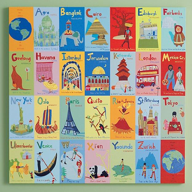 World Alphabet Canvas Wall Art + Reviews   Crate and Barrel