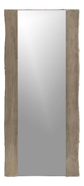 Yukon Grey Live-Edge Floor Mirror