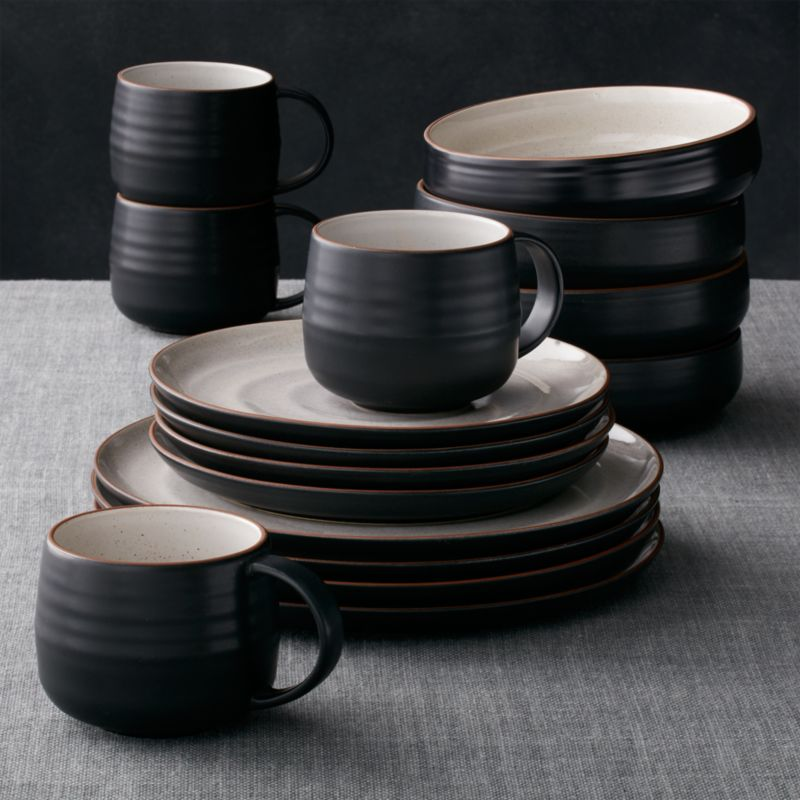 & 18th Street 16-Piece Dinnerware Set + Reviews | Crate and Barrel