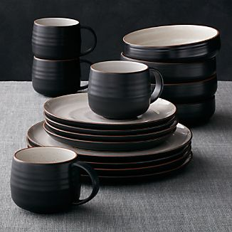 18th Street 16-Piece Dinnerware Set & Stoneware Dinnerware | Crate and Barrel