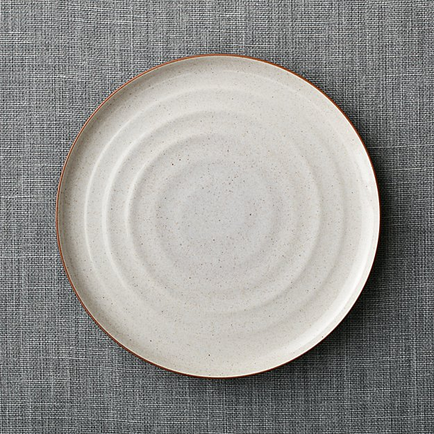 18th st brown stoneware dinner plate reviews crate and barrel