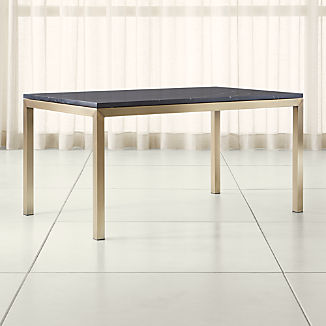Parsons Black Marble Top/ Brass Base Dining Tables