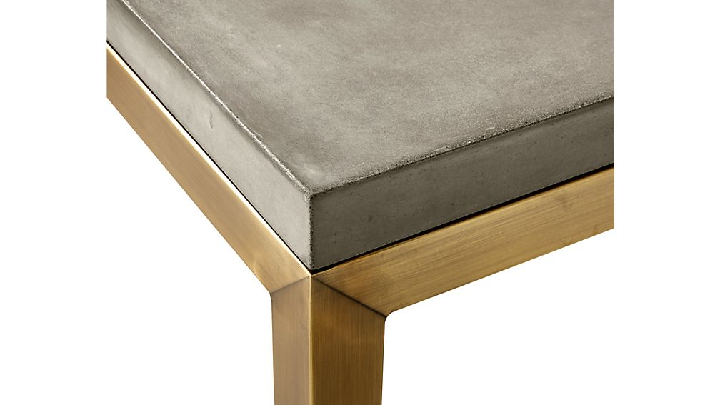 Parsons Concrete Top/ Brass Base 48x28 High Dining Table