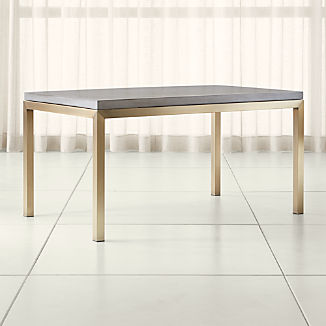 Parsons Concrete Top/ Brass Base Dining Tables