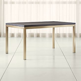 Parsons Pine Top/ Brass Base Dining Tables