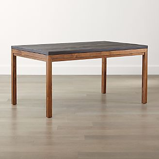 parsons pine top elm base dining table - Furniture Dining Table