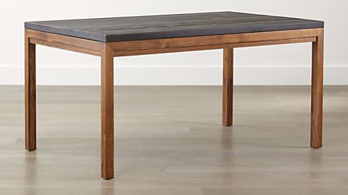 parsons pine top elm base dining tables - Kitchen Dining Tables