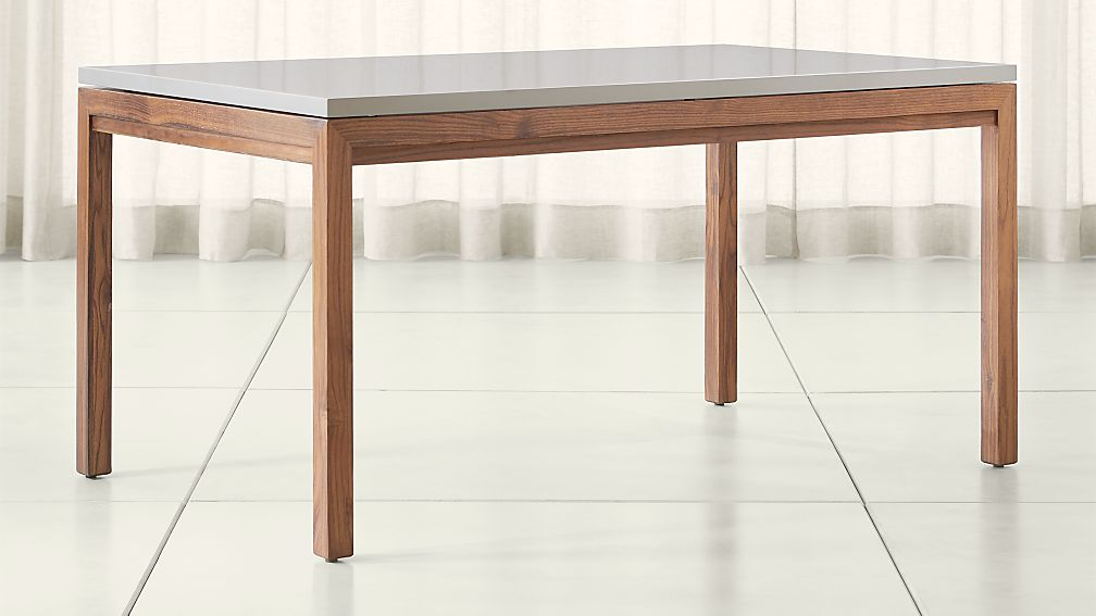 Parsons Grey Solid Surface Top Elm Base Dining Tables