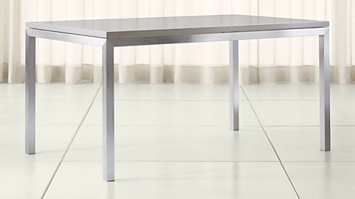 Parsons Grey Solid Surface Top/ Stainless Steel Base Dining Tables