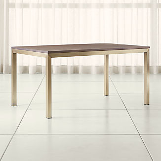 Parsons Walnut Top/ Brass Base Dining Tables