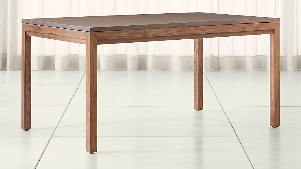 Parsons Walnut Top Elm Base Dining Tables Crate And Barrel