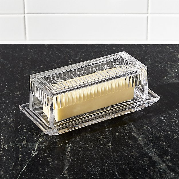 1 Stick Butter Dish Reviews Crate And Barrel