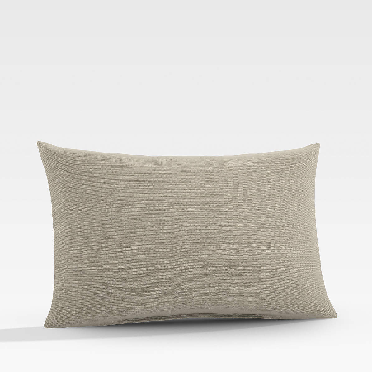 Sunbrella Canvas Stone Outdoor Lumbar Pillow Reviews Crate And Barrel