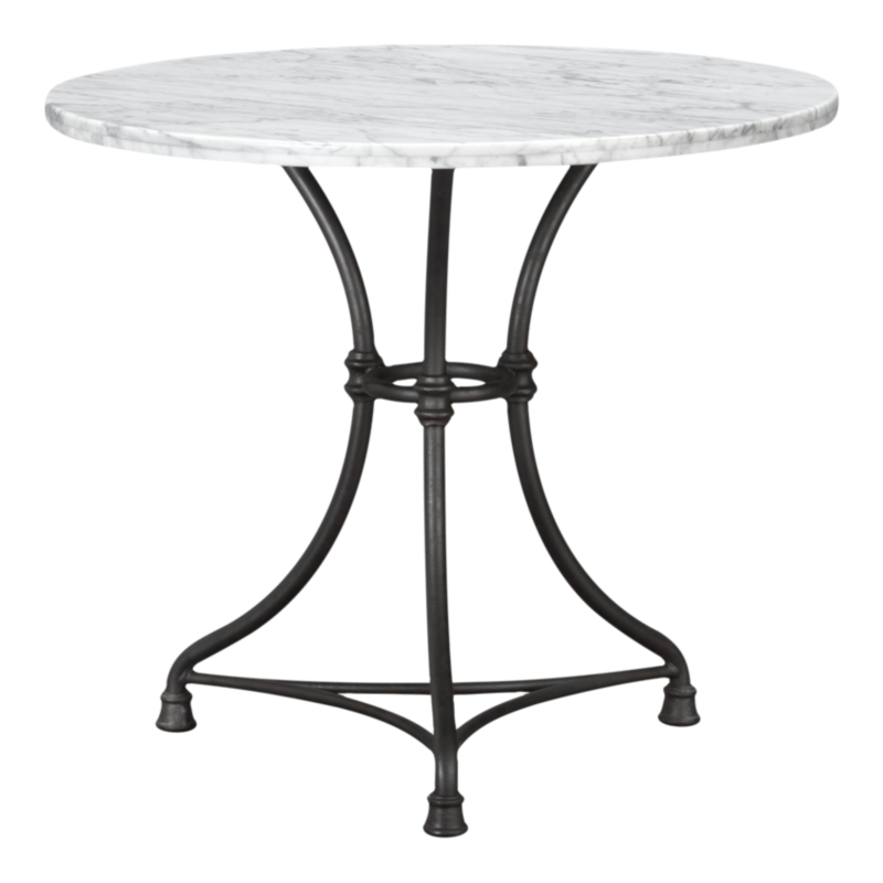 French Kitchen Round Bistro Table Reviews Crate And Barrel