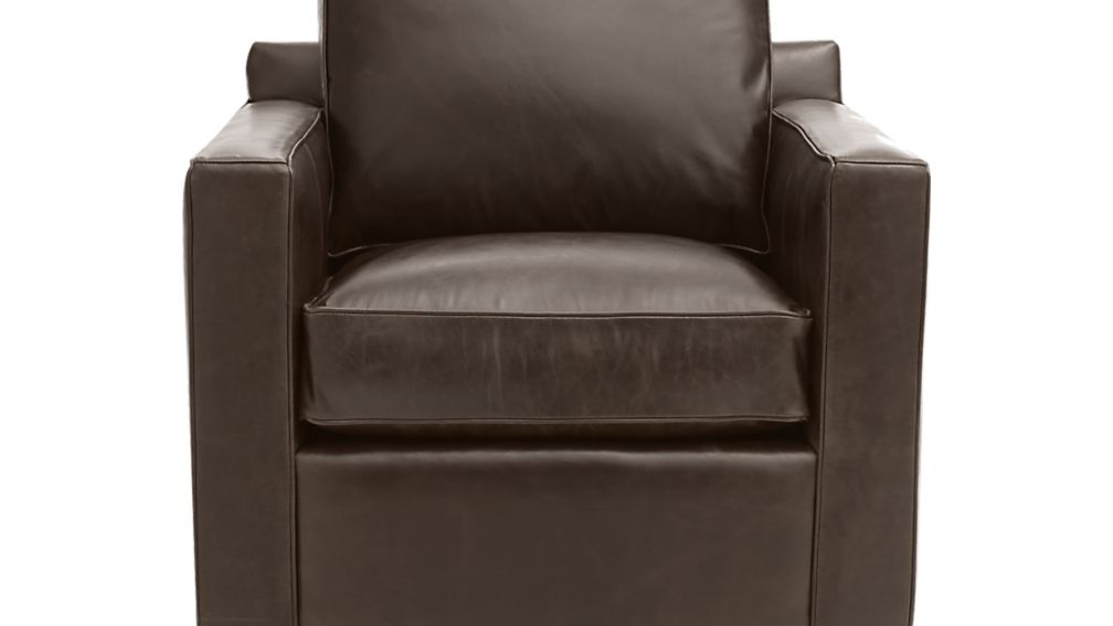 Swell Davis Leather Swivel Chair Reviews Crate And Barrel Ibusinesslaw Wood Chair Design Ideas Ibusinesslaworg