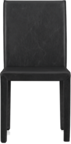 Folio Viola Black Top-Grain Leather Dining Chair