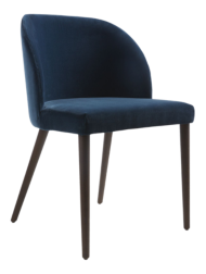 Camille Navy Velvet Dining Chair