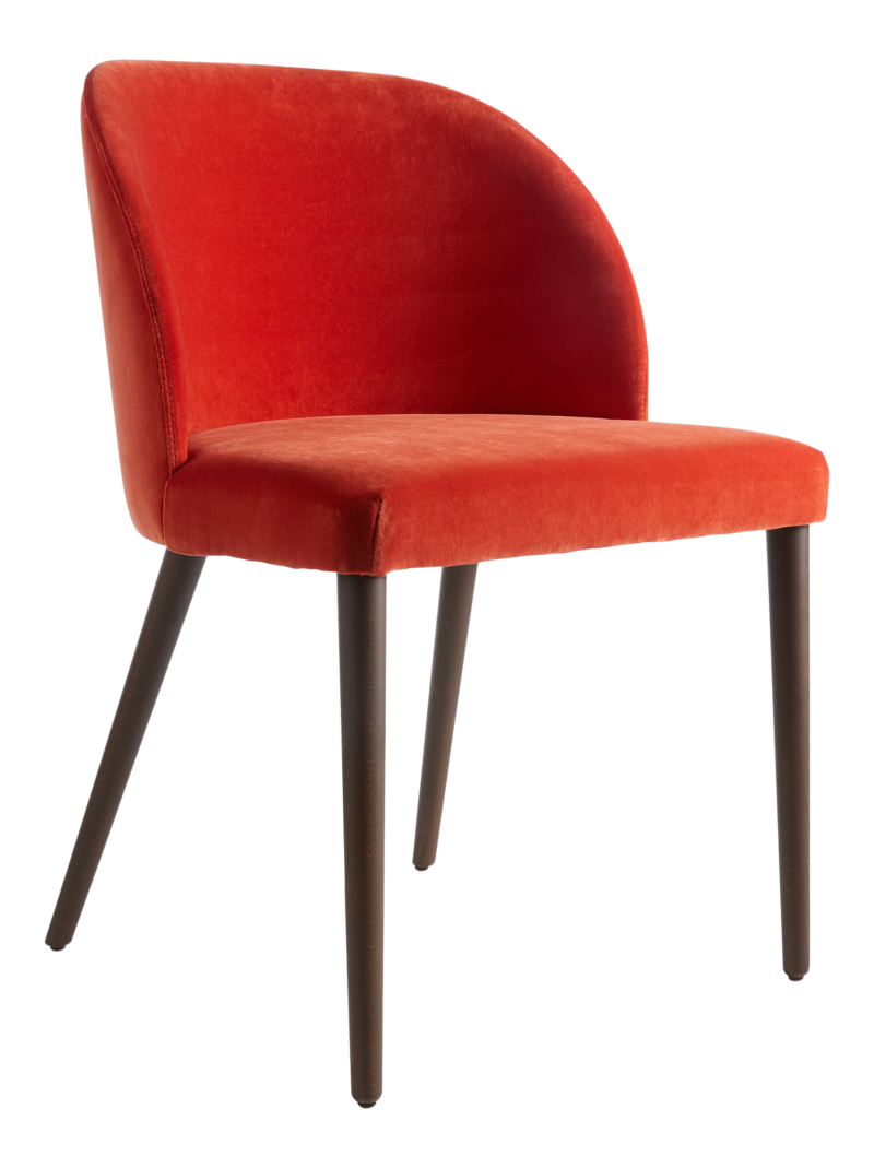 Camille Burnt Orange Velvet Dining Chair